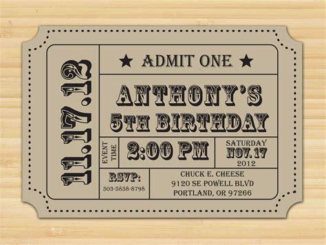 Carnival Ticket Invitation Ticket Stub Editable Invitation Birthday Party Editable Pdf Printable Ticket Invitation Template