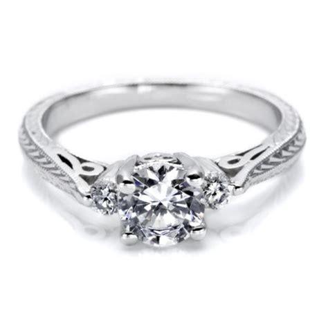 tacori 18 karat hand engraved engagement ring ht2207 tq
