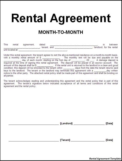 rental property agreement template 124 best rental agreement images on free
