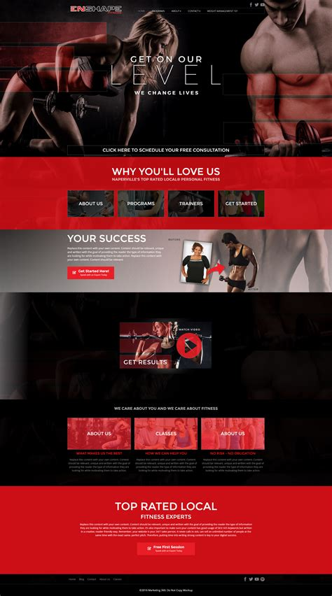 9 Best Fitness Website Design Templates For 2017 Marketing 360 174 Fitness Website Design Templates