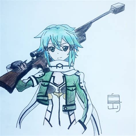 50x150cm sized sword sao sinon print anime wall sao 2 sinon by adadogu on deviantart