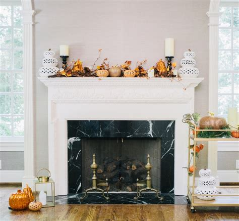 how to decorate fire place decorate your fireplace mantel for halloween fashionable