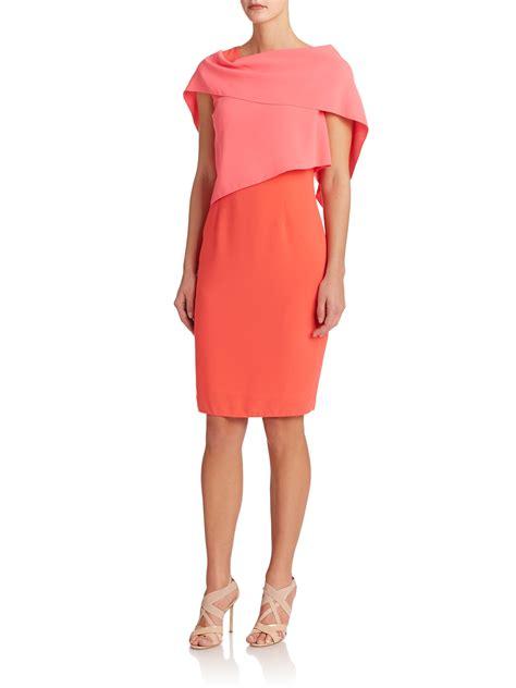 Dress Catarina lyst elie tahari caterina dress in orange