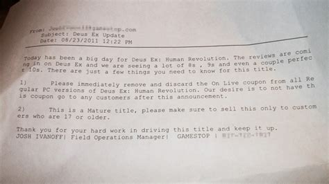 cover letter for gamestop gamestop opening deus ex boxes removing free code