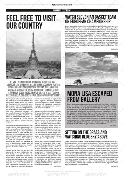 indesign modern newspaper magazine template a3 by zigazi83