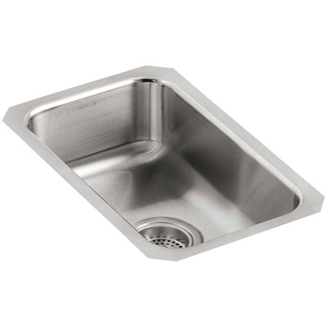 kohler stainless undermount sink kohler undertone undermount stainless steel 11 in single