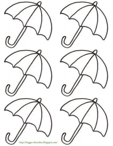 umbrella coloring pages printable umbrella template coloring home
