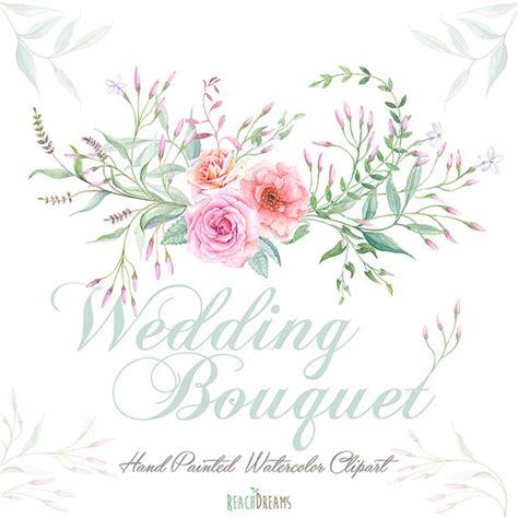 Bow Window Ideas watercolor wedding bouquet roses flowers jasmine foliage