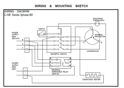 semi hermetic compressor wiring diagram single phase semi