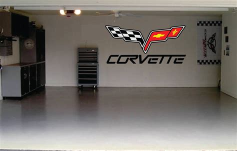 garage door stickers corvette car decal garage door or wall decal by signjunkies