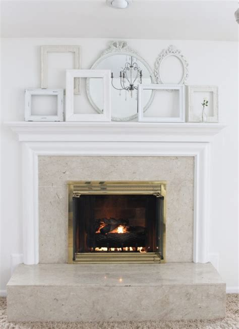 shabby chic mantle a shabby chic white mantel my from home