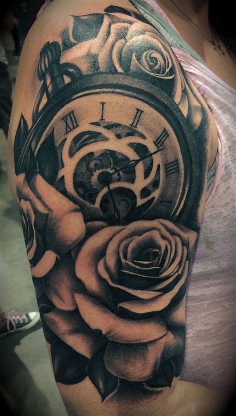 shoulder arm tattoos 25 best ideas about clock and on
