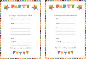 best compilation of printable birthday invitations