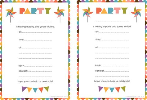 birthday invitation card template printable free printable birthday invitations for free