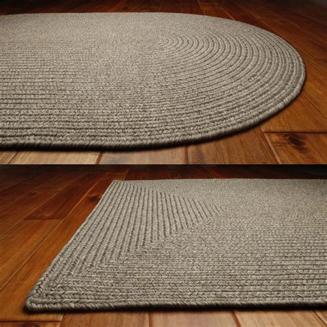 braided rug solid braided area rugs indoor outdoor oval rectangle