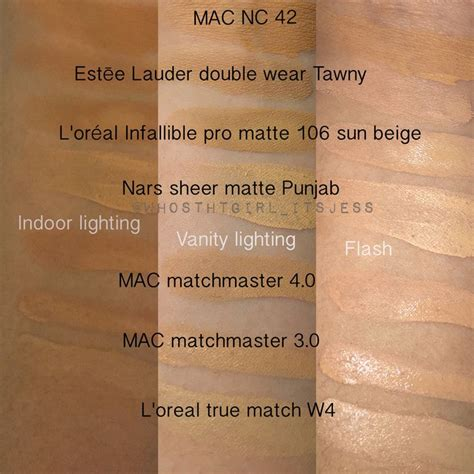 L Oreal Infallible Pro Matte Foundation Shade Golden Beige oltre 1000 idee su estee lauder foundation shades su
