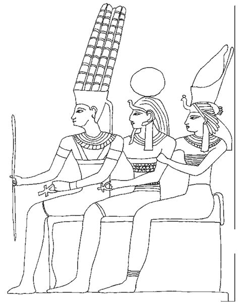 free egypt tomb coloring pages