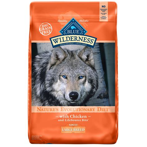 blue puppy food blue buffalo blue wilderness large breed chicken recipe food petco