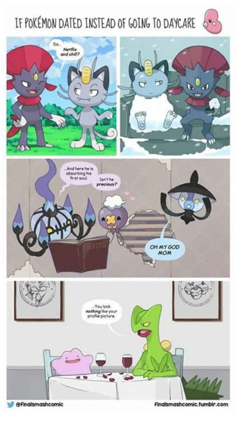 Pokemon Daycare Memes - if pokemon dated instead of going to daycare and chill