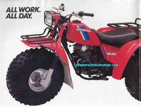 honda 3 wheeler parts big three wheeler world 1984 honda atc 200es big brochure