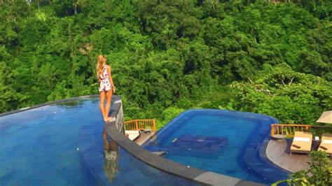 hanging infinity pools in bali hanging gardens ubud neyu ma