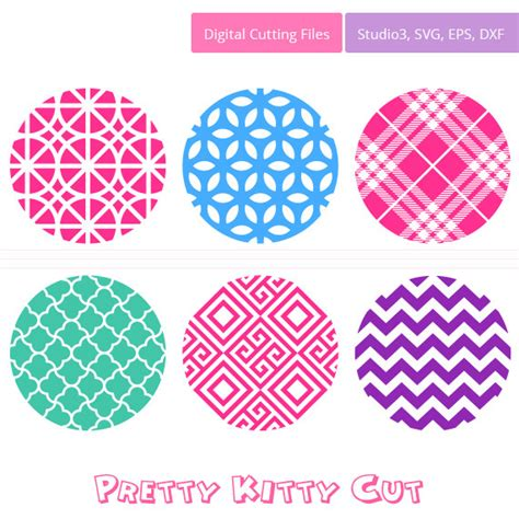 svg pattern external file circle background patterns cut file svg studio3 dxf