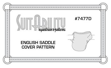 Pattern English Saddle Cover | pdf english saddle cover pattern