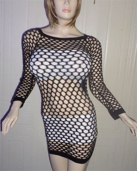 pantyhose tops sleeved women s fishnet top mini dress one size nylon mesh long
