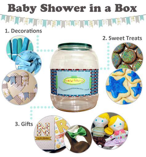 Baby Shower In A Box baby shower in a box diy welcometothemousehouse