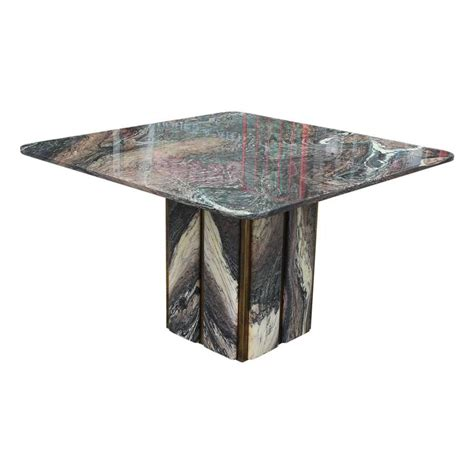 Marble Square Dining Table Brass And Marble Square Modern Italian Dining Or Kitchen Table For Sale At 1stdibs