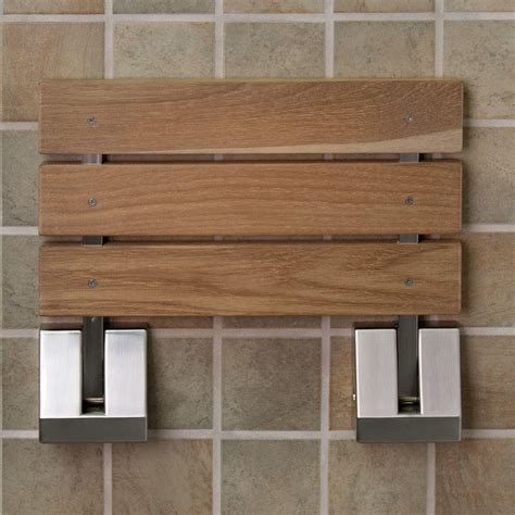 teak bench shower wall mount teak folding shower seat bathroom