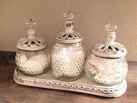 bathroom apothecary jar ideas 1000 ideas about apothecary jars bathroom on bathroom counter decor
