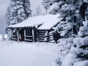 Snowy Cabin In The Woods by Amandamurray92