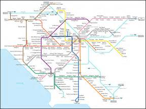 La Metro System Map by Map 4 The Transit Coalition Expo Aerial Survey
