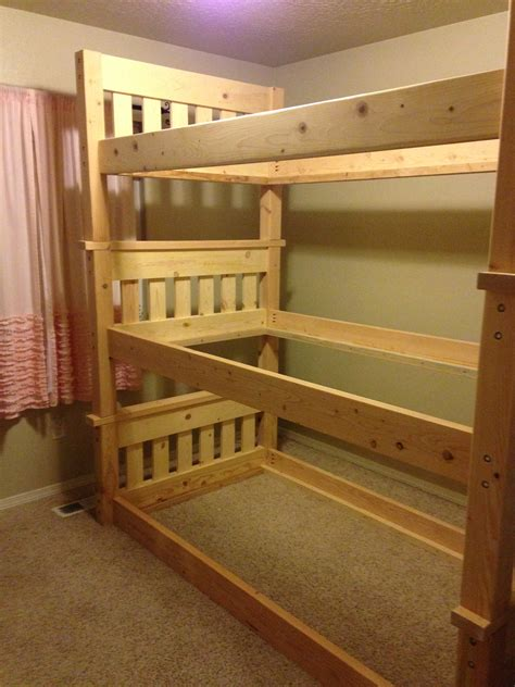 diy bunk bed ana white simple bunk bed triple bunk diy projects