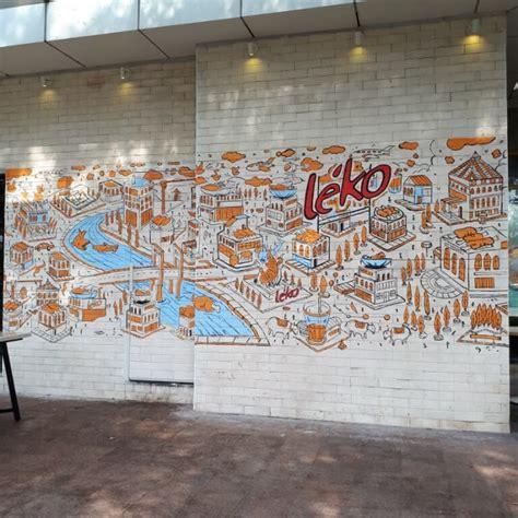 doodle gedung mural doodle di leko summarecon mall serpong yang bikin