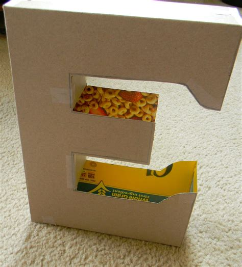decoupage cardboard boxes diy cardboard letter with d 233 coupage tutorial cardboard