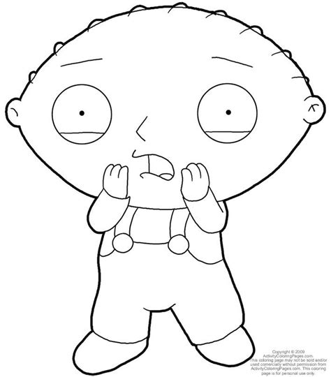 stewie griffin coloring pages coloring home