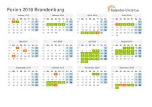 Kalender 2018 Feiertage Und Ferien Brandenburg Ferien Brandenburg 2018 Ferienkalender Zum Ausdrucken