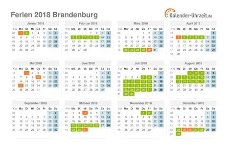 Kalender 2018 Mit Feiertagen Brandenburg Ferien Brandenburg 2018 Ferienkalender Zum Ausdrucken