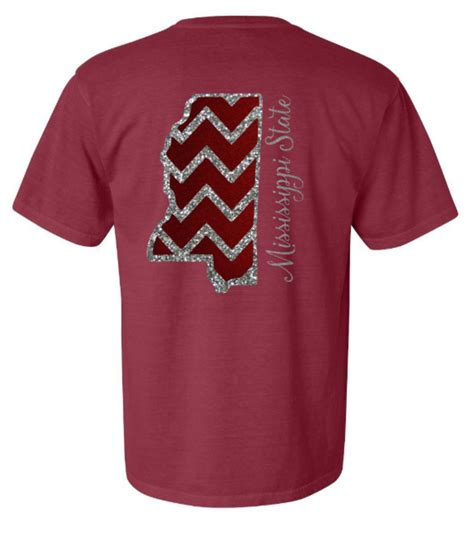comfort colors mississippi state comfort colors mississippi state glitter from
