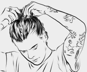harry styles drawing outline google search