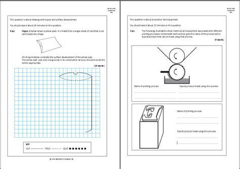 layout of a report gcse as level product design coursework mark scheme