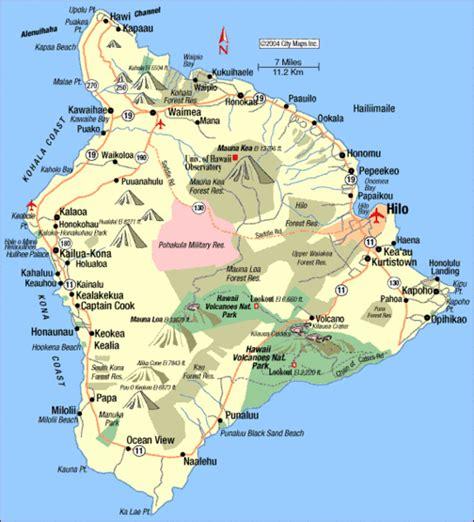 hawaii big island map hawaii island tourist map hawaii mappery