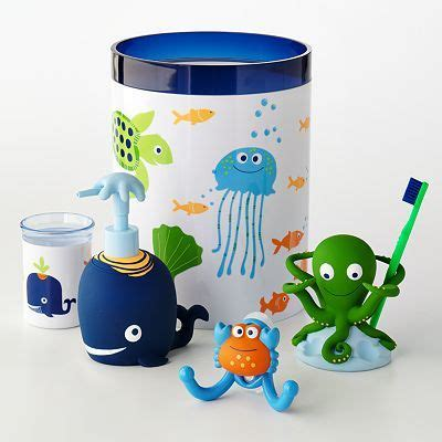 octopus bathroom accessories jumping beans fish tales bath accessories love the octopus toothbrush holder baby