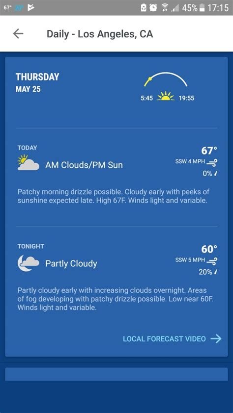 weather channel app android the best android weather app review of 15 best weather apps for android