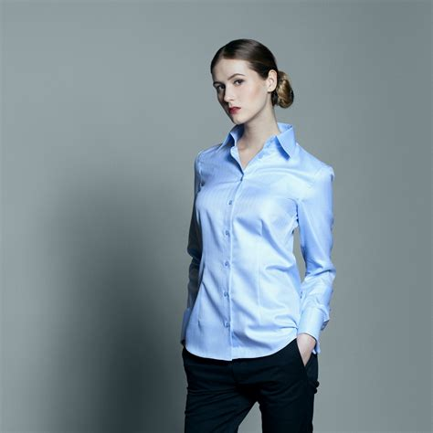 womens dress shirts light blue dress shirt munich by ella hopfeldt