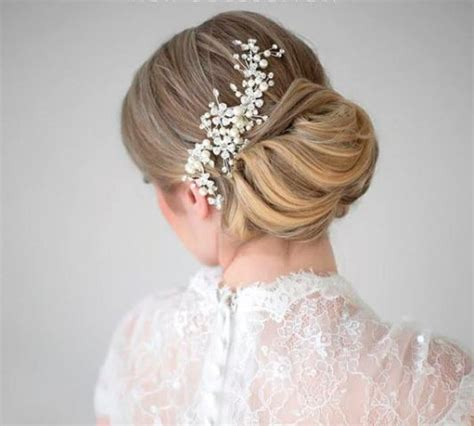 Wedding Hairstyles Combs by Wedding Bridal Flower Hair Pins