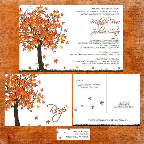 Unique Fall Wedding Invitations by Invitation Unique Fall Wedding Invitations Fall