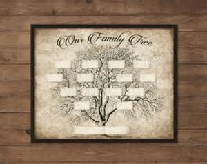 ancestry template family tree template etsy